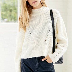 UNIF High-Neck Cropped Sweater